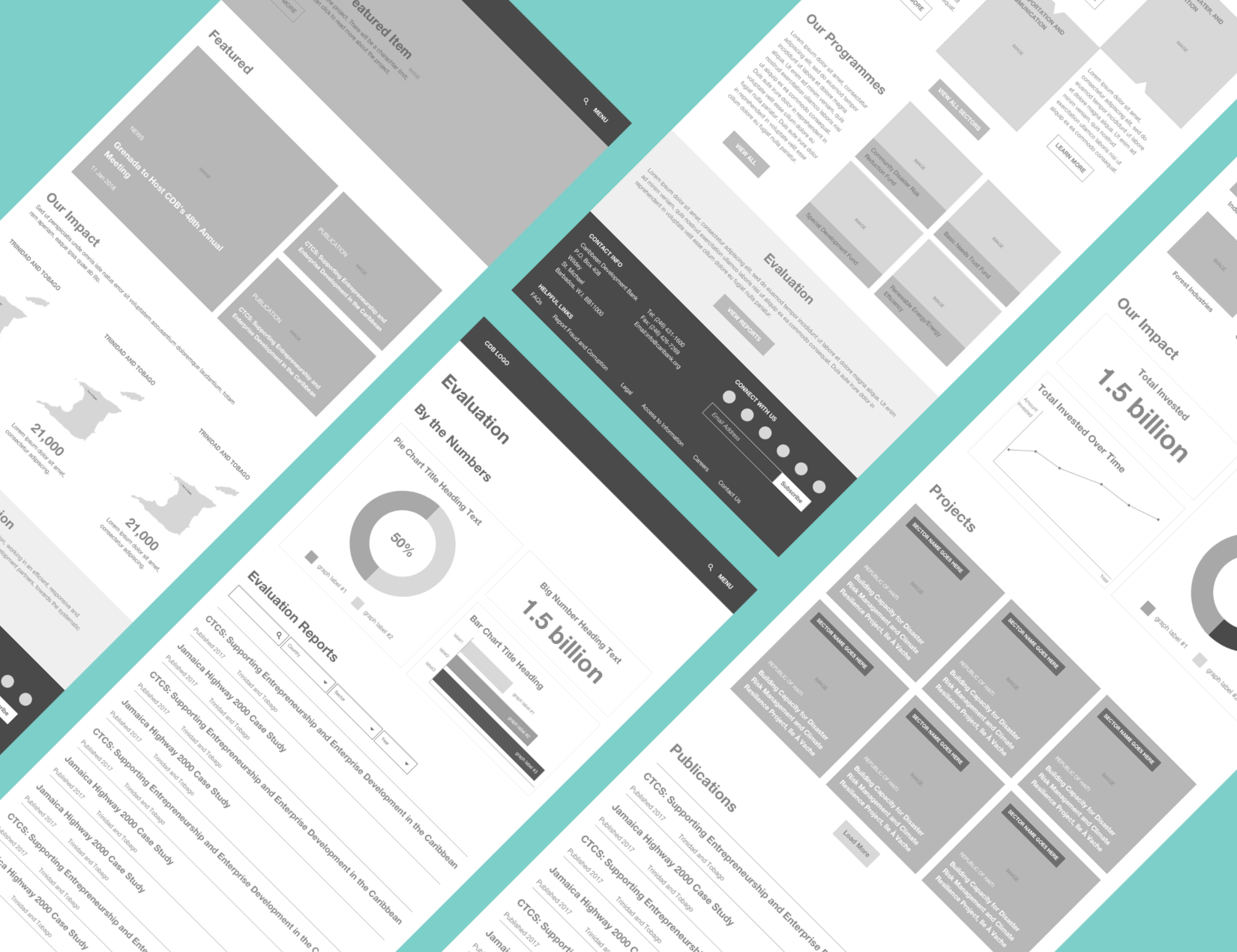 CDB Wireframe screens